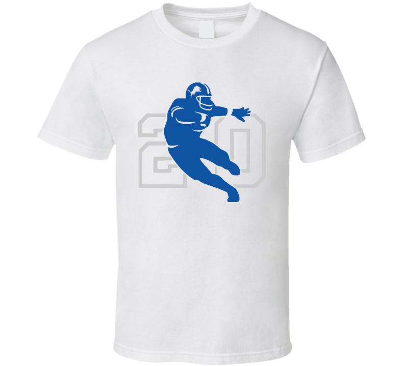 Barry Sanders Logo Football T Shirt