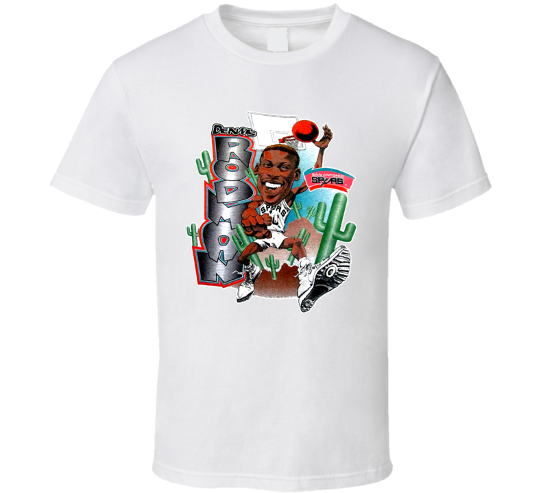 Dennis Rodman San Antonio Basketball Caricature T Shirt