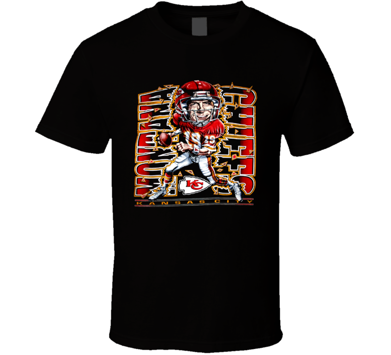 Joe Montana Kansas City Football Caricature T Shirt