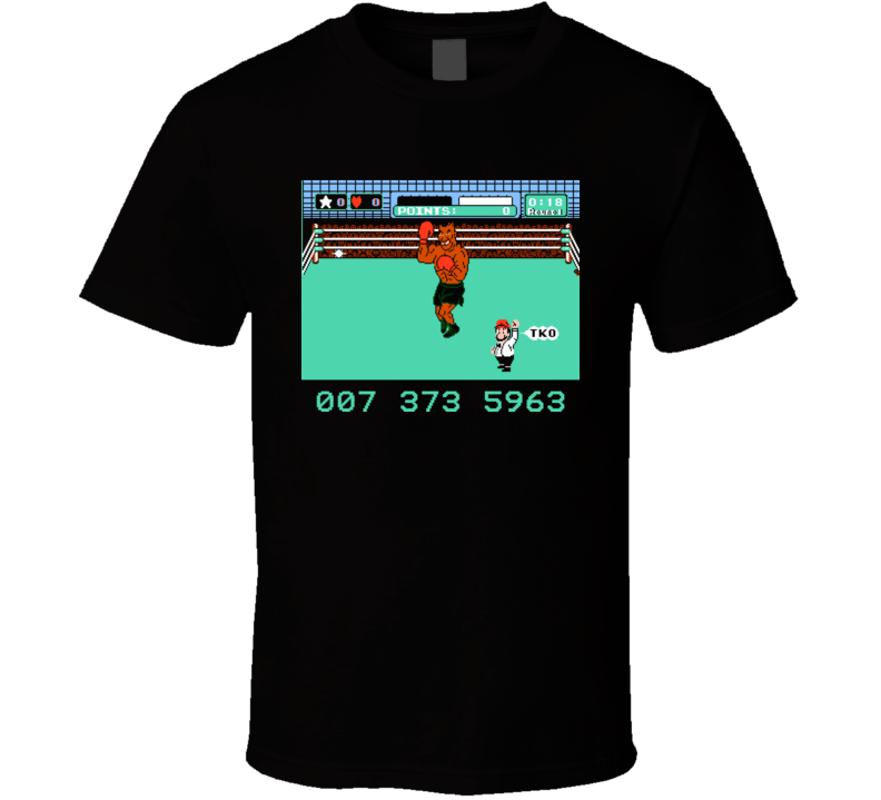 Mike Tysons Punch Out Nes T Shirt