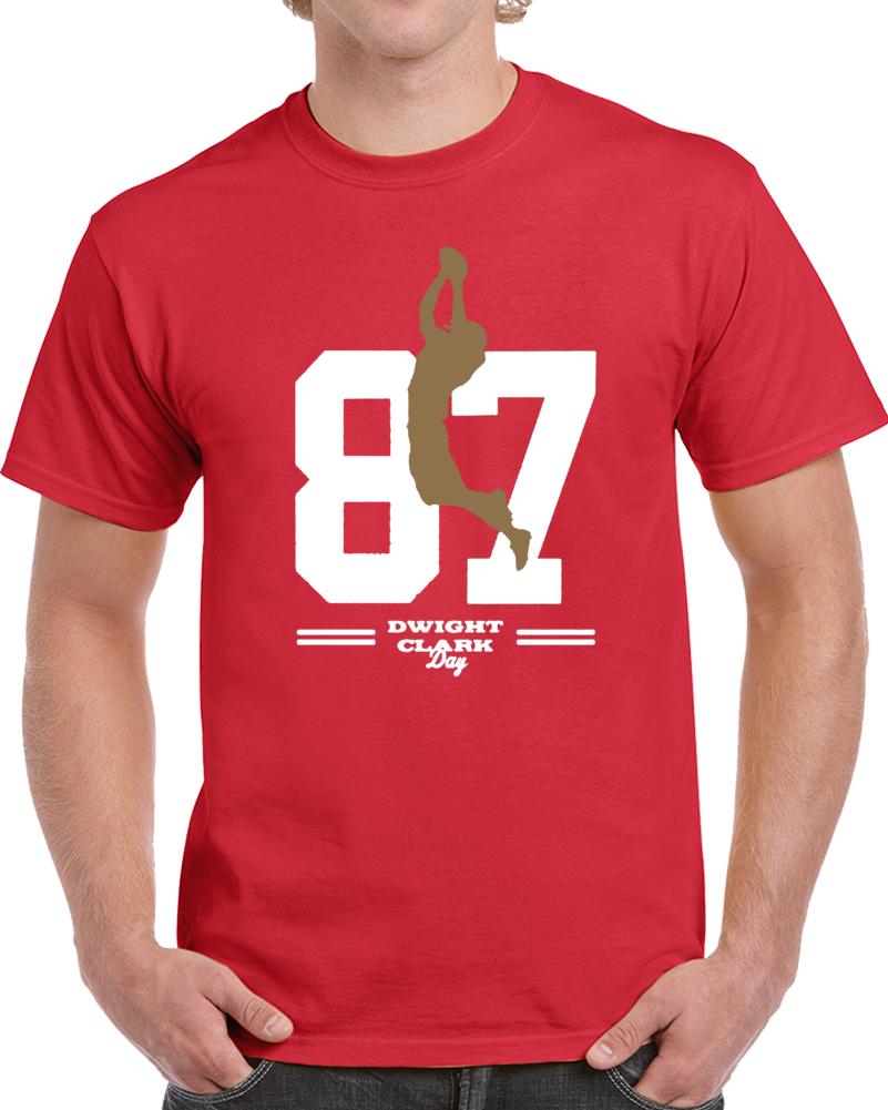 Dwight Clark San Francisco Football T Shirt