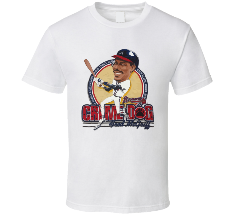 Fred Mcgriff Retro Baseball Caricature T Shirt