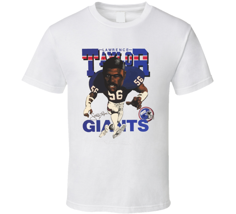 Lawrence Taylor Retro Football Caricature T Shirt