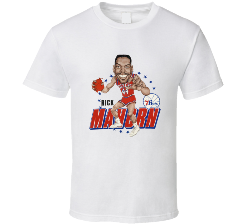 Rick Mahorn Retro Basketball Caricature T Shirt