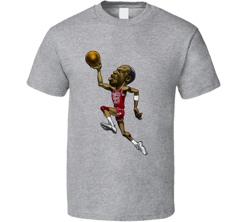 Michael Jordan Basketball Legend  Retro Caricature T Shirt