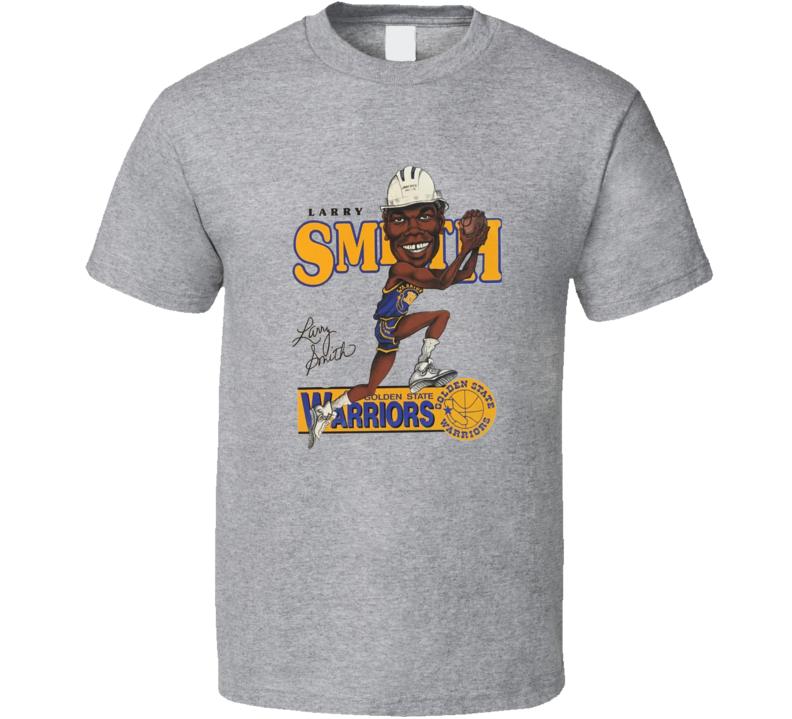 Larry Smith Basketball Retro Caricature T Shirt