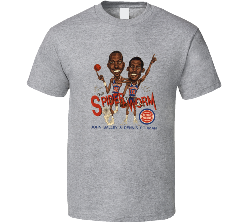 Rodman And Sally Spider And Worm Basketball Retro Caricature T Shirt