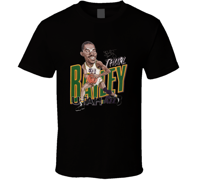 Thurl Bailey Basketball Retro Caricature T Shirt