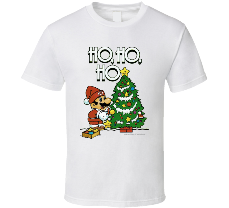 Super Mario Nintendo Christmas Present Essential Holiday Fan T Shirt