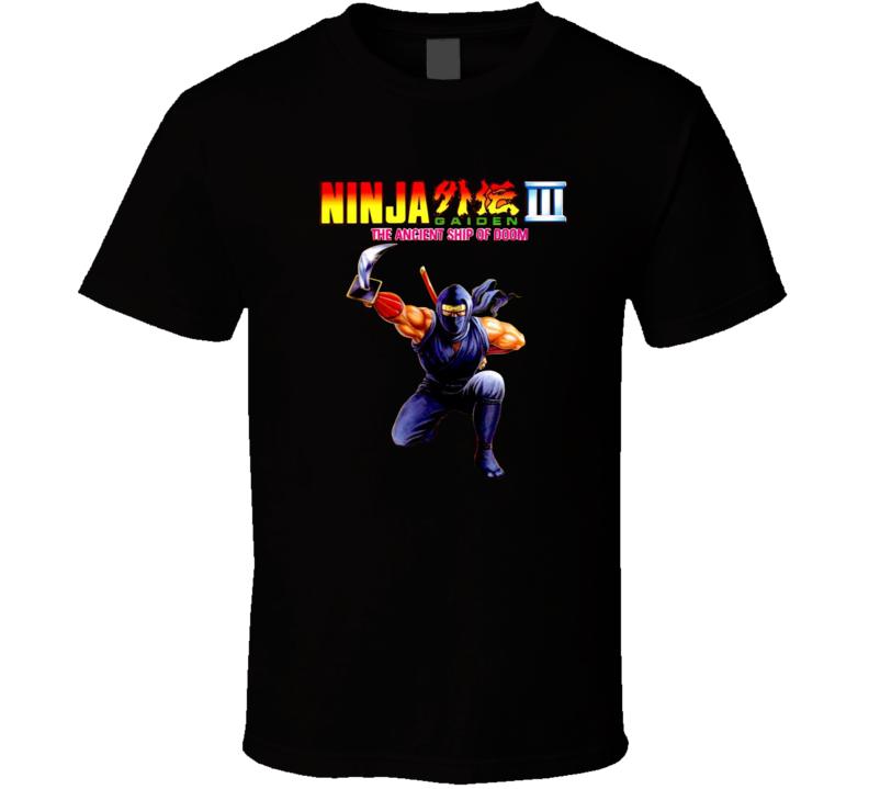 Ninja Gaiden 3 Nes Box Art Retro Video Game T Shirt