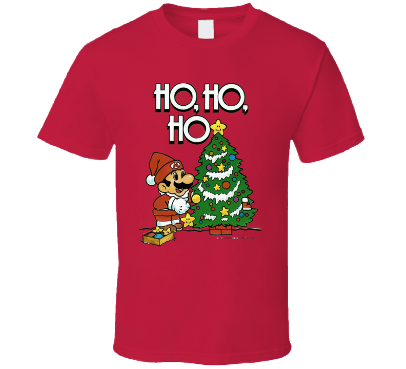 Super Mario Christmas Holiday Season Fun Cool T Shirt