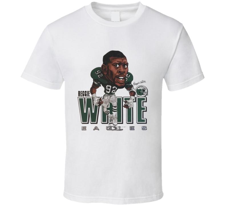 Reggie White Philadelphia Football Legend Caricature T Shirt
