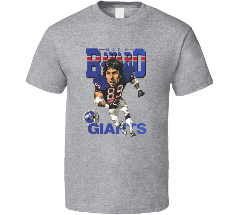 Mark Bavaro New York Football Caricature T Shirt
