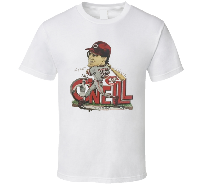 Paul O'neill Retro Baseball Caricature T Shirt