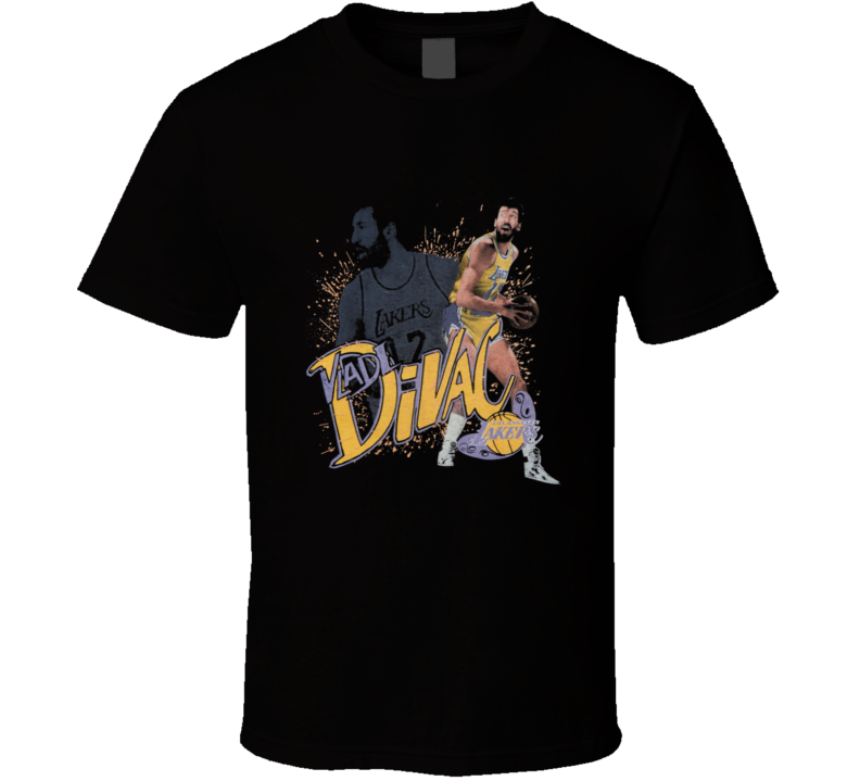 Vlade Divac Retro Los Angeles Basketball T Shirt