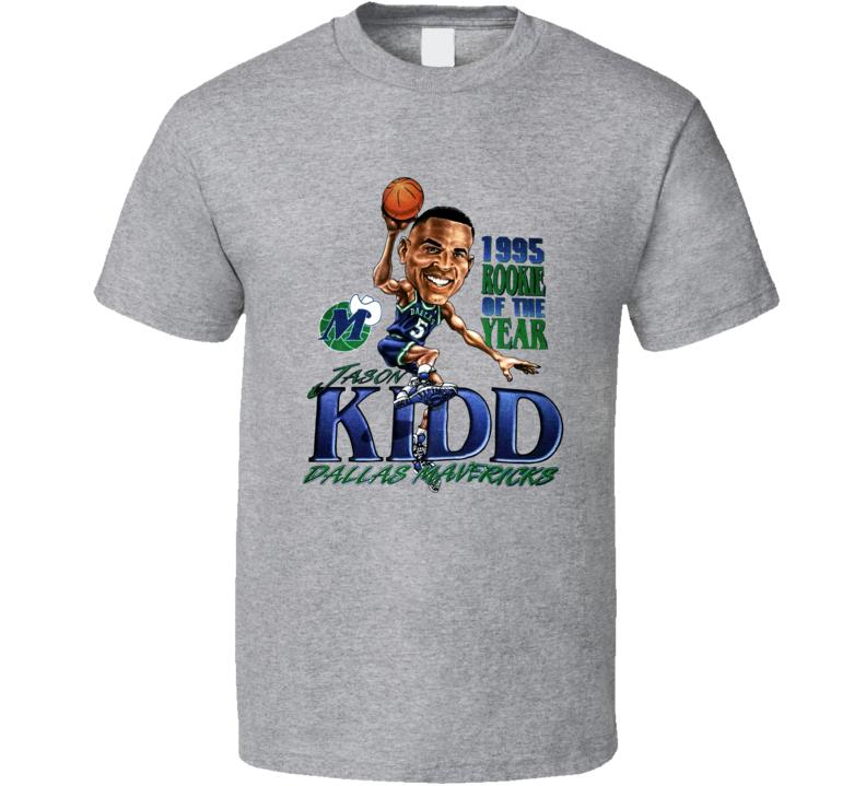 Jason Kidd Rookie Retro Basketball Caricature T Shirt