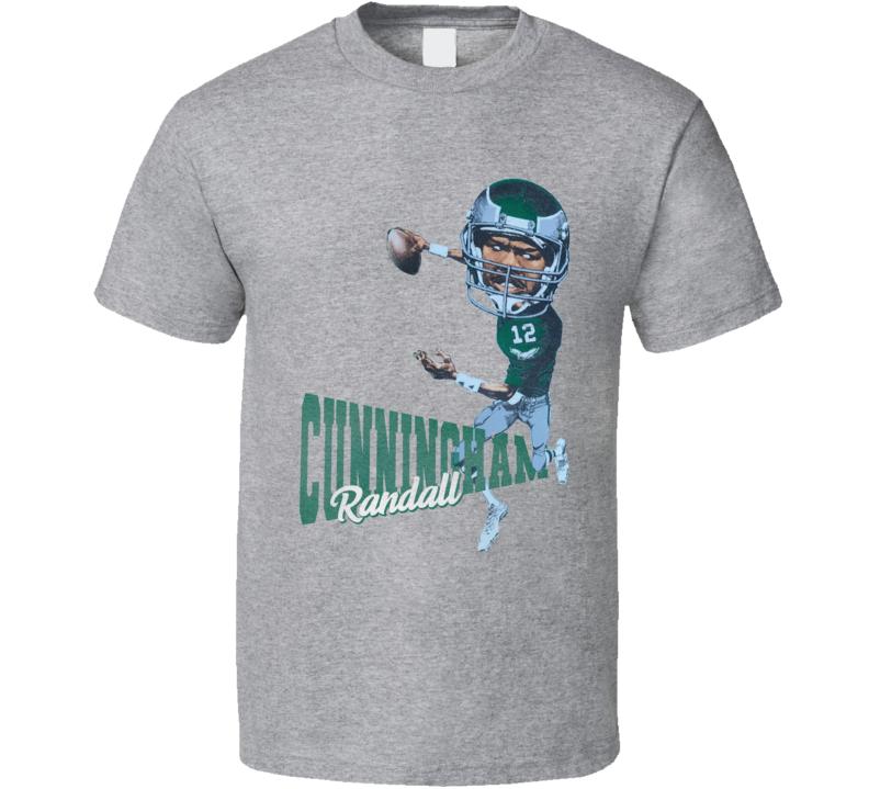Randall Cunningham Retro Philadelphia Football Caricature T Shirt