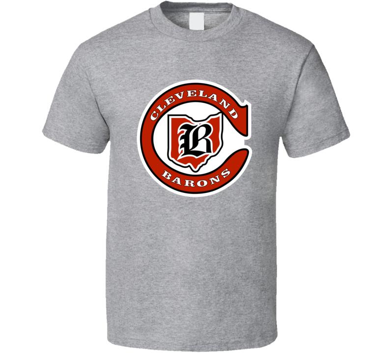 Cleveland Barons 70's Hockey Logo Retro T Shirt