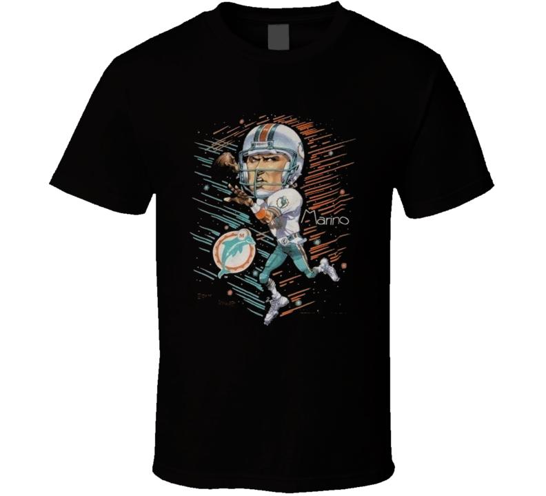 Dan Marino Miami Football Legend Qb Retro T Shirt