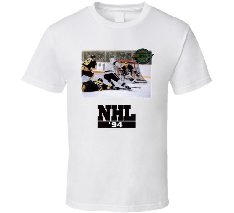 NHL 94 Classic Video Game Box Art T Shirt