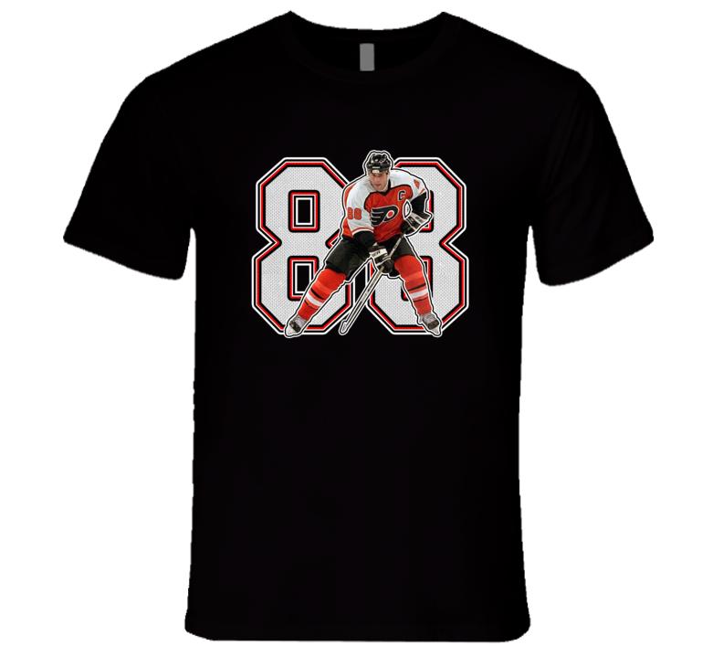 Eric Lindros Philadelphia Hockey Legend Retro Sports  Black T Shirt