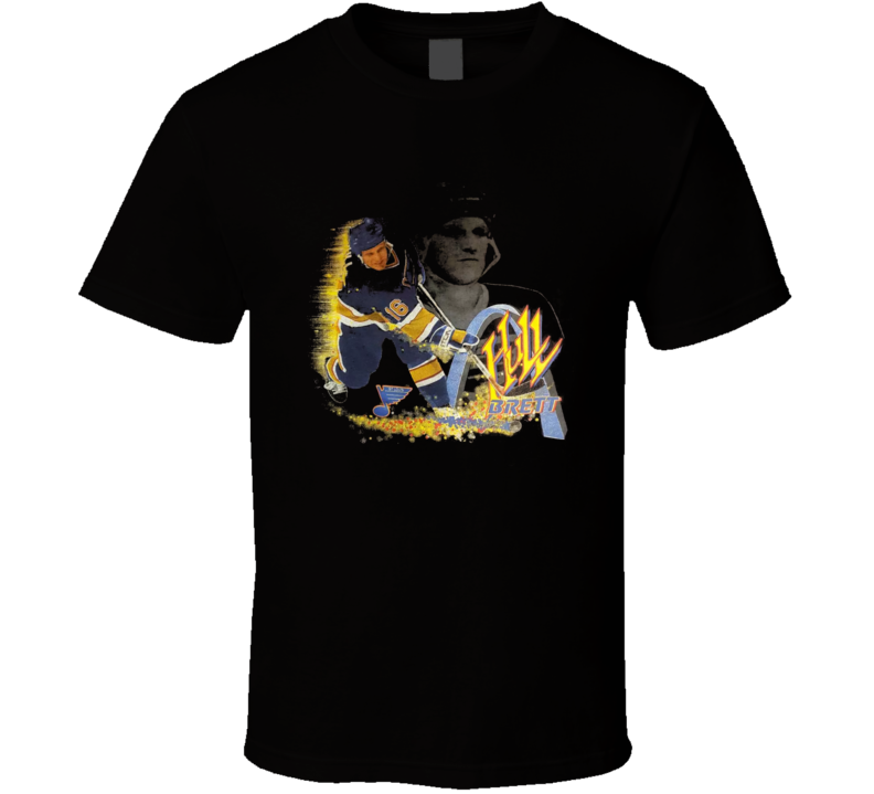 Brett Hull Retro St Louis Hockey Hof Cool T Shirt
