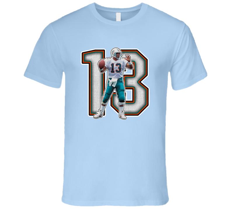 Dan Marino Miami Football Legend Retro Sports T Shirt