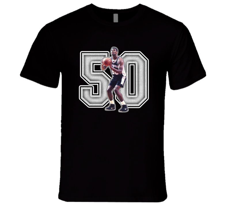 David Robinson San Antonio Basketball Legend Retro Sports T Shirt