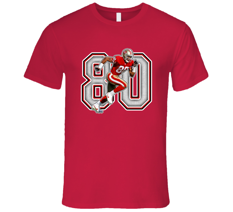 Jerry Rice San Francisco Football Legend Retro Sports T Shirt