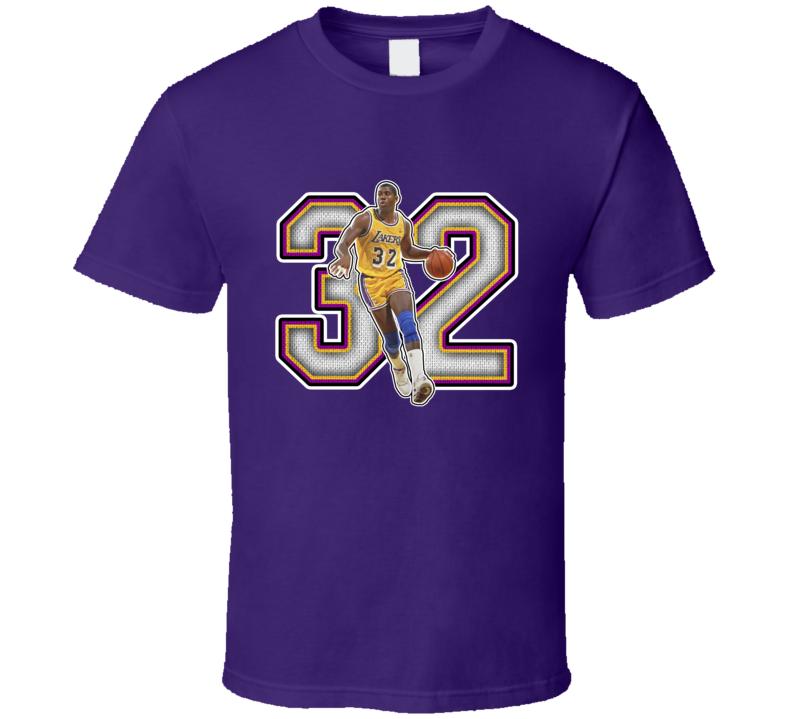 Magic Johnson Los Angeles Basketball Legend Retro Sports T Shirt