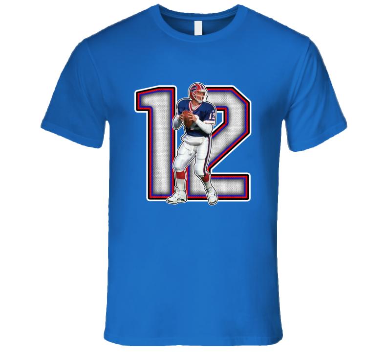 Jim Kelly Buffalo Football Legend Retro Sports T Shirt