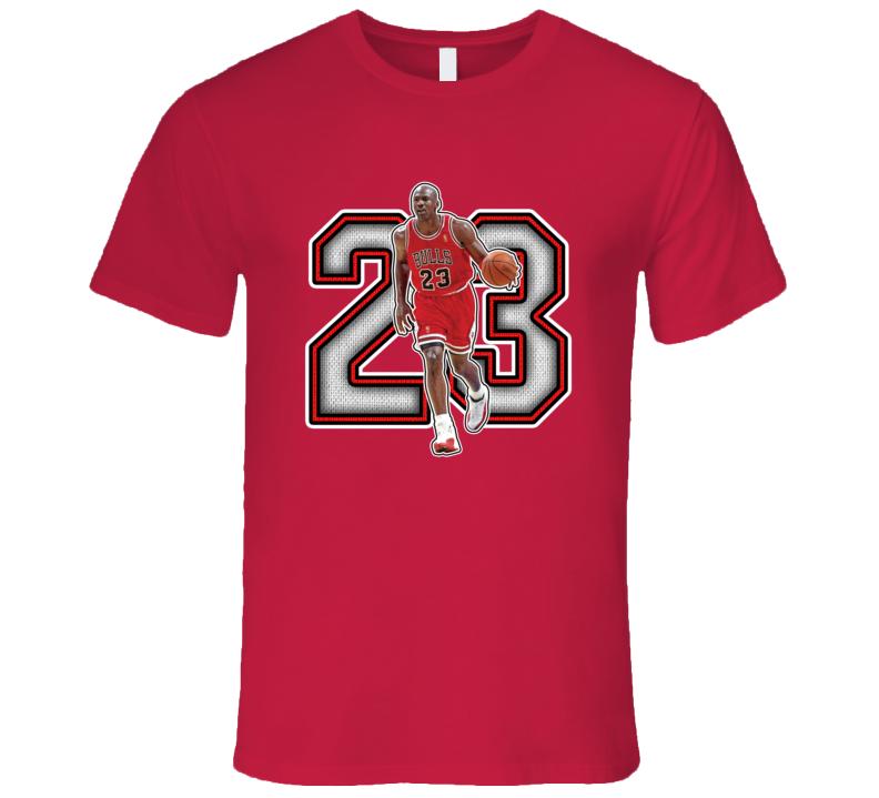 Michael Jordan Chicago Basketball Legend Retro Sports T Shirt