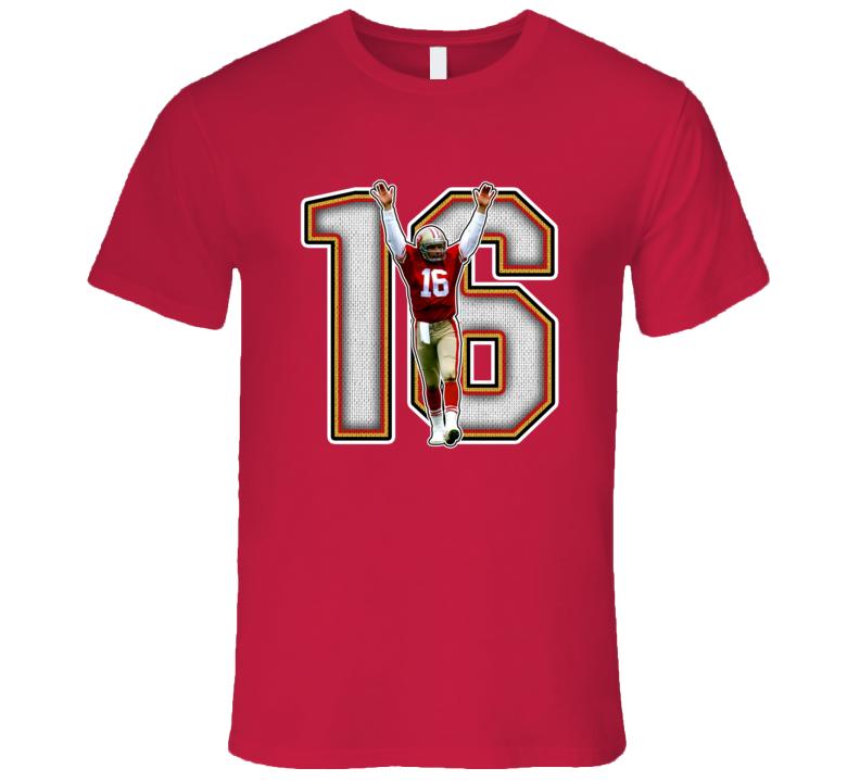 Joe Montana San Francisco Football Legend Retro Sports T Shirt