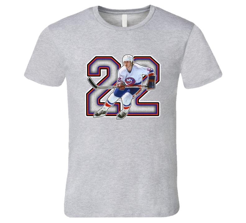 Mike Bossy New York Hockey Legend Retro Sports T Shirt