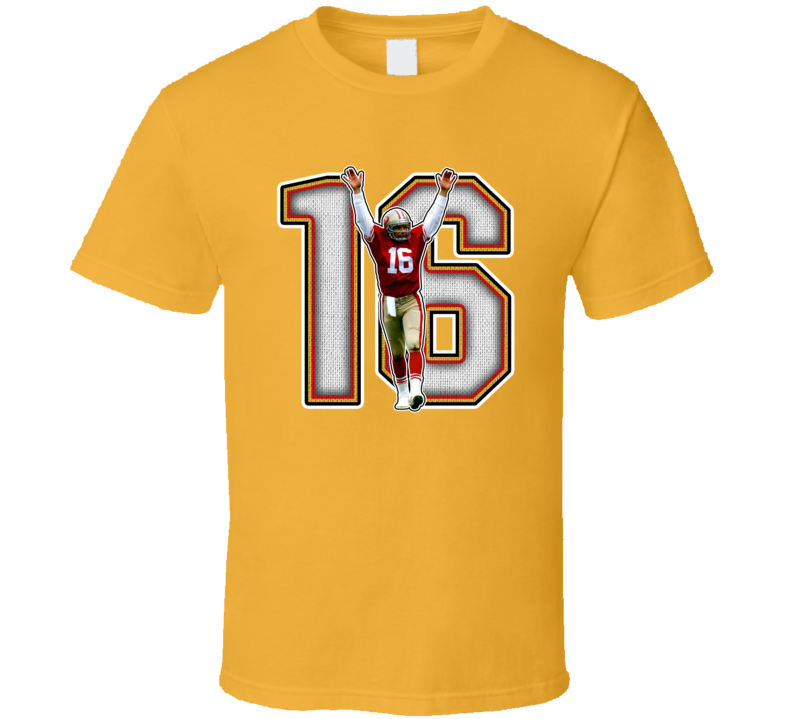 Joe Montana San Francisco Legend Hof Retro Sports T Shirt