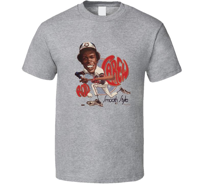 Rod Carew Minnesota Baseball Legend Retro Caricature T Shirt