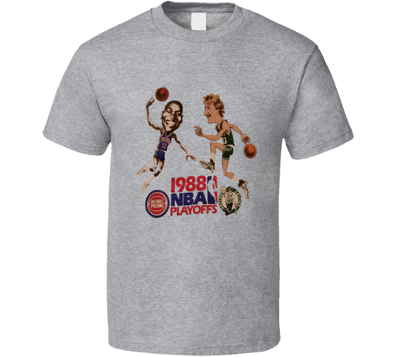 Larry Bird Vs Isiah Thomas 1988 Basketball Retro Caricature T Shirt