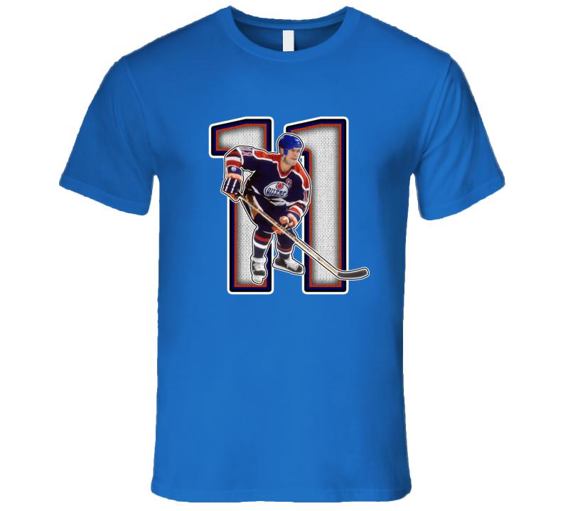 Mark Messier Edmonton Retro Hockey Legend T Shirt