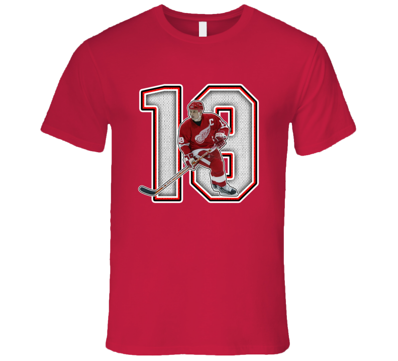 Steve Yzerman Detroit Retro Hockey Legend T Shirt