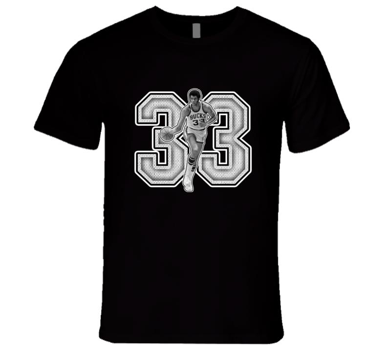 Lew Alcindor  Milwaukee Retro Basketball Legend T Shirt