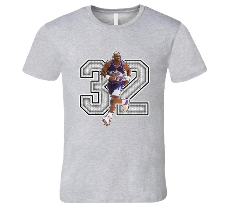 Karl Malone Utah Retro Basketball Legend T Shirt