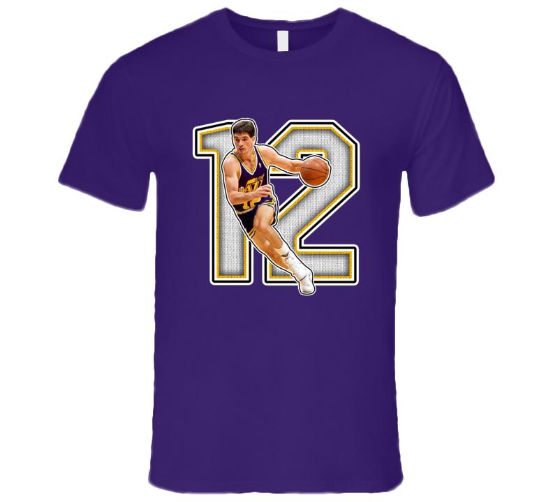 John Stockton Utah Retro Basketball Legend T Shirt