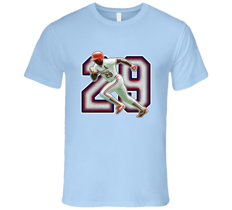 Vince Coleman St Louis Baseball Legend Retro T Shirt