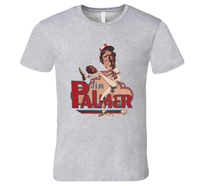 Jim Palmer Retro Hof Baltimore Retro Caricature T Shirt