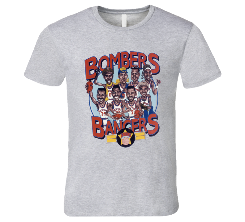New York Basketball Bombers And Bangers Ewing Oakley Caricature T Shirt