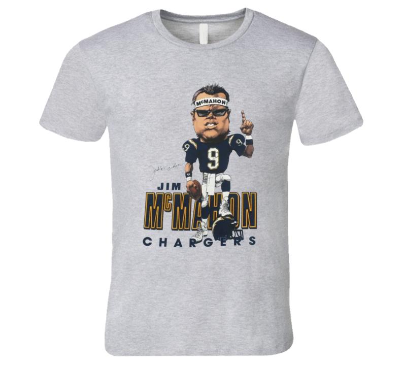 Jim Mcmahon San Diego Football Retro Caricature T Shirt