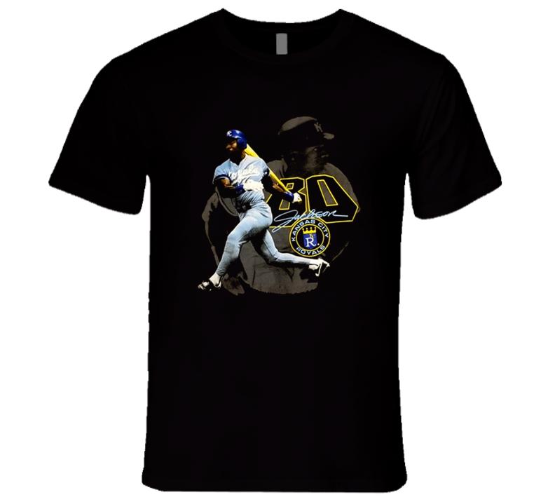 Bo Jackson Kansas City Slugger Baseball Retro T Shirt