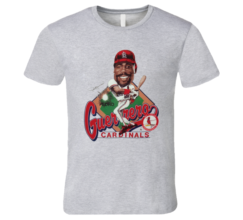 Pedro Guerrero St Louis Baseball Retro Caricature T Shirt