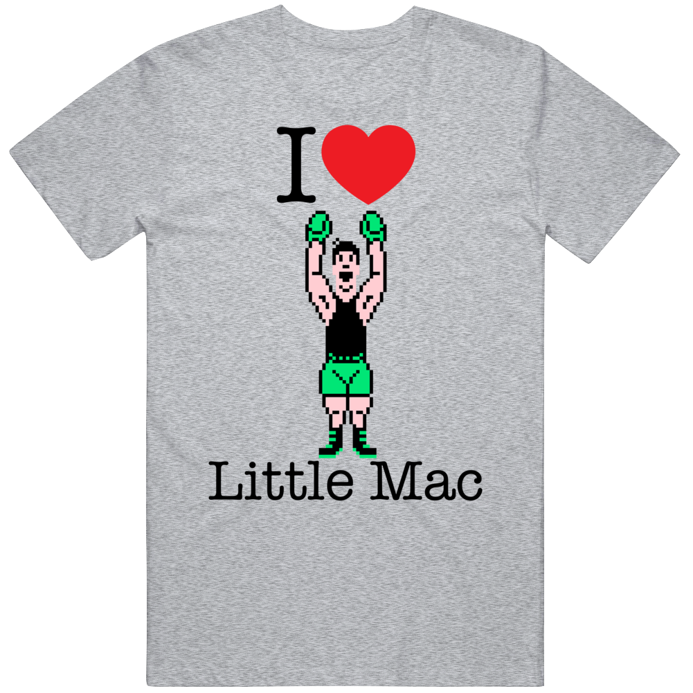 Little Mac I Love Heart Mike Tyson's Punch Out Video Game Boxing T Shirt