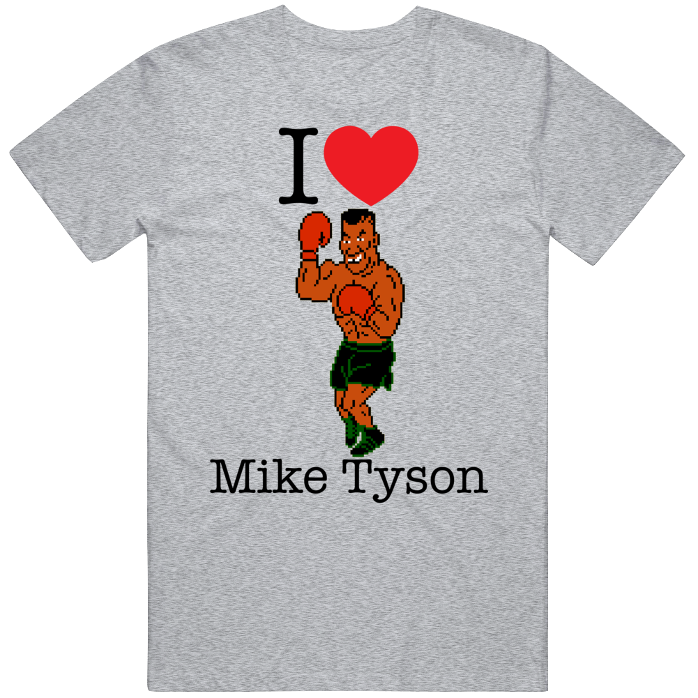 Mike Tyson I Love Heart Mike Tyson's Punch Out Video Game Boxing T Shirt